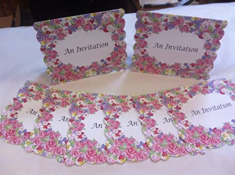 Cœurs et roses personnalisée Note cartes avec enveloppe–'Denise'
