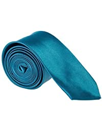 Robelli Slim Satin Plain Men's / Boys Tie (Various Colours)