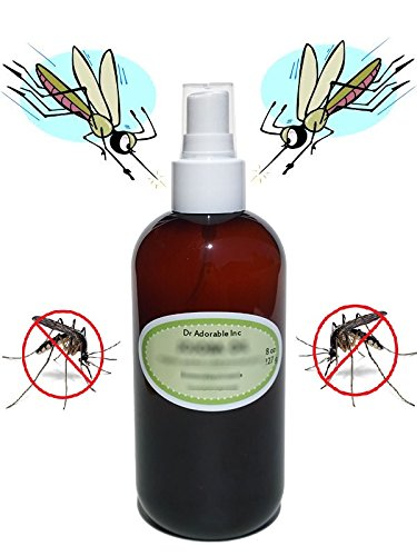 4.4 oz with Sprayer Premium Organic Grapeseed & Mosquito Repellent DEET FREE Buster Blend Best Essential Oils