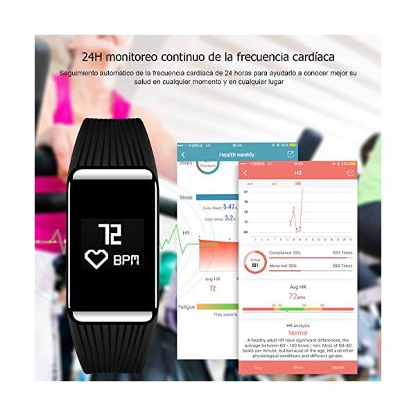 Fitness Tracker QIMAOO K1 Pulsera Actividad Inteligente IP68 Impermeable 2