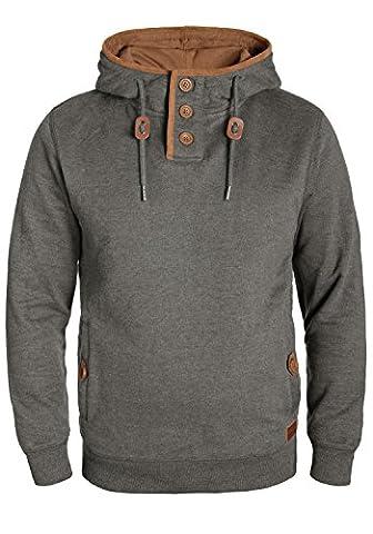 BLEND Alexo - Sweater à capuche- Homme, taille:XL;couleur:Pewter Mix (70817)