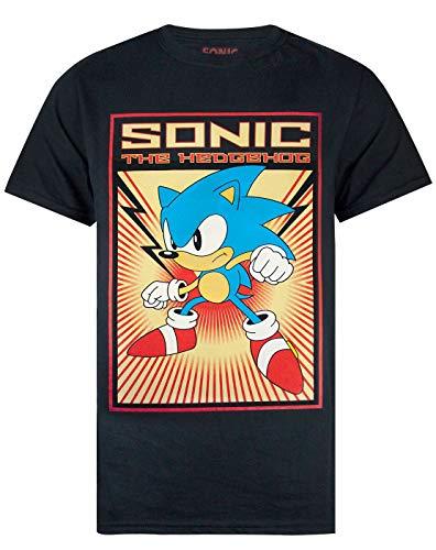 detailed look 78653 30e20 Sonic The Hedgehog Propaganda Poster Men s T-Shirt (XX-Large)