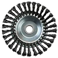 BianchiPatricia Rotary Twist Knot Steel Wire Wheel Brush Disc 25.4x200mm Trimmer Accessaries
