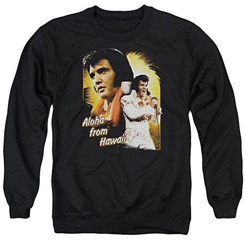 Elvis Presley Herren Aloha Sweatshirt schwarz - Schwarz - Mittel -