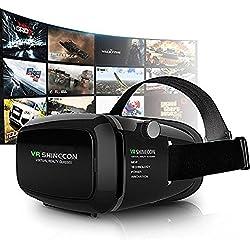 3D VR Gafas,3D VR Casco Realidad Virtual Ajustable 3D y Juegos de Vídeo Compatible con iPhone 7/6S/6 Plus/6/5S/5 C/5,Samsung Galaxy S5/S6/Note4/Note5,Otros 3.5-6.0 Pulgada Teléfonos Inteligentes (VR DV01)