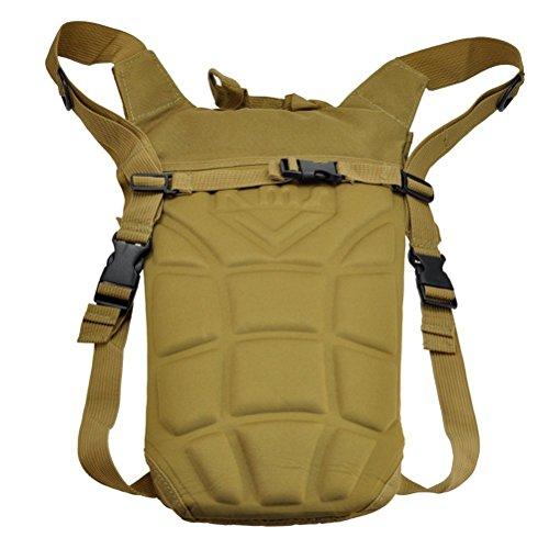 LEORX 3L Wasser Tasche Rucksack Hydration System Blase zum Klettern Wandern Khaki