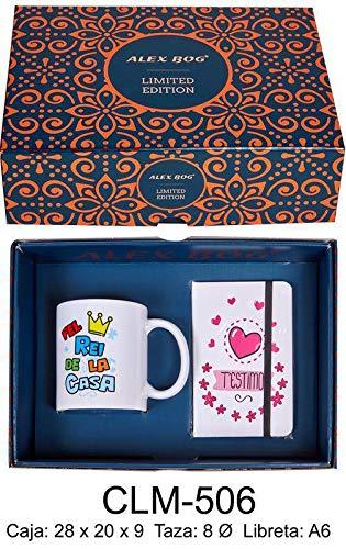 RM- Set libreta y Taza mug con Mensaje Pel Rei de la casa Sets de Material Escolar (1)