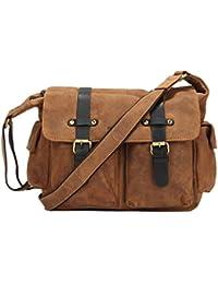 Greenburry Vintage Sac bandoulière cuir 38 cm brown