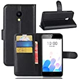 Meizu M5C Cover-GHHK Portafoglio in pelle PREMIUM PU con Card Slot di caso di stile del libro Cover per Meizu M5C smartphone immagine