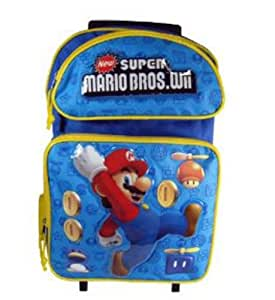 Super Mario Bros Trolley cartable a roulettes sac a dos 40 cm x 30 cm