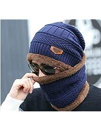 8bae4e7906b AlexVyan Imported Blue 1 Set Snow Proof (Inside Fur) Unisex Woolen Beanie  Cap With Scarf for Men Women Girl Boy…