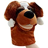 SODIAL(R) Cute Plush Velour Animals Hand Puppets Chic Designs Kid Child Learning Aid Toy (Dog)