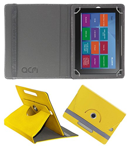 Acm Rotating 360° Leather Flip Case for Milagrow M8 Pro Cover Stand Yellow  available at amazon for Rs.189