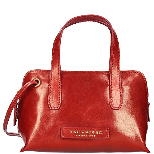 The Bridge Plume Luxe Donna Sac bandoulière cuir 22,5 cm rosso ribes