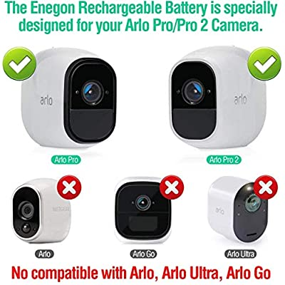 ENEGON Rechargeable Li-ion Battery Pack and Smart LED Dual Charger Kit ONLY for Arlo Pro Arlo Pro