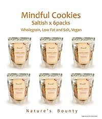 Grainny's Organic Whole-Grain Vegan Mindful Cookies - Saltish (Pack Of 6) 480 gms.