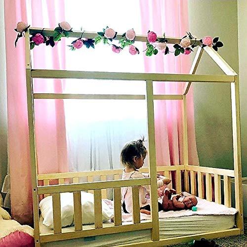 Lit d'enfant en bas âge avec lattes, lit Montessori,le lit est fait pour la taille de matelas...