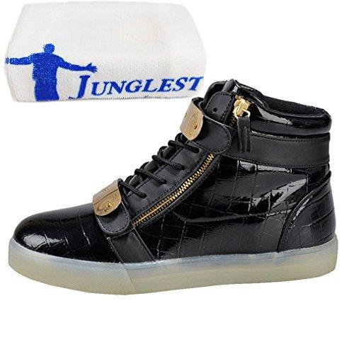 [Presente:piccolo asciugamano]JUNGLEST® Unisex High Top LED lampeggiante scarpe da ginnasti c25
