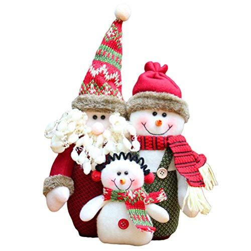 HEALIFTY Weihnachtsdekoration Weihnachten Puppe Tischplatte Desktop Ornament Home Party Schaufenster Dekoration Weihnachtsgeschenk Spielzeug (Zufälliger Stil)