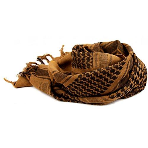 Stofirst Unisex 100% Baumwolle Shemagh Armee Keffiyeh Neck Schal schützende SAS Military Wüste taktischen Kopf wickeln Combat Sun Hat Schals (Shemagh Wüste Schal)