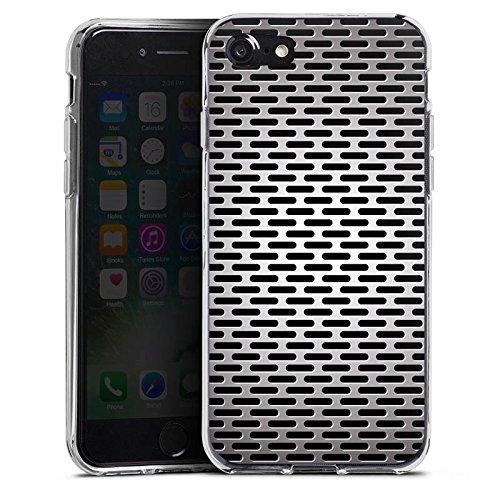 Apple iPhone X Silikon Hülle Case Schutzhülle Blech Metallic Look Silikon Case transparent