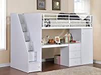 Flintshire Furniture Dakota, Wood, White, Single