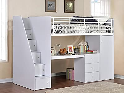 Flintshire Furniture Dakota, Wood, White, Single