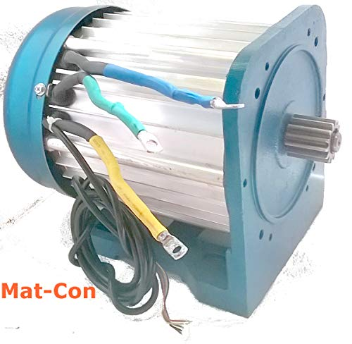 Elektromotor E-Motor BLDC Gleichstrom 48V 3KW 3000W (max. 5KW 5000W) 27Nm 3000U/min, 3 Phasen, mit Hallsensoren, bürstenlos