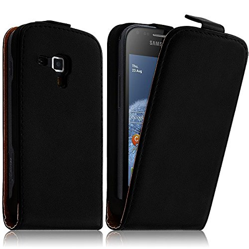 HQ-CLOUD Etui Housse Cuir vertical pour Samsung Galaxy Trend S7560 - Noir - Un film Offert