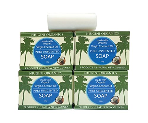 4 x The World's Purest Coconut Soap Bar With Organic Virgin Coconut Oil For Sensitive Skin, 100g (4 x Unscented Soap)
