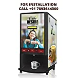 Cafe Desire Coffee Maker / Tea Maker / Espresso Maker / Coffee Machine / Coffee and Tea Vending Machine (2 Lane) Image