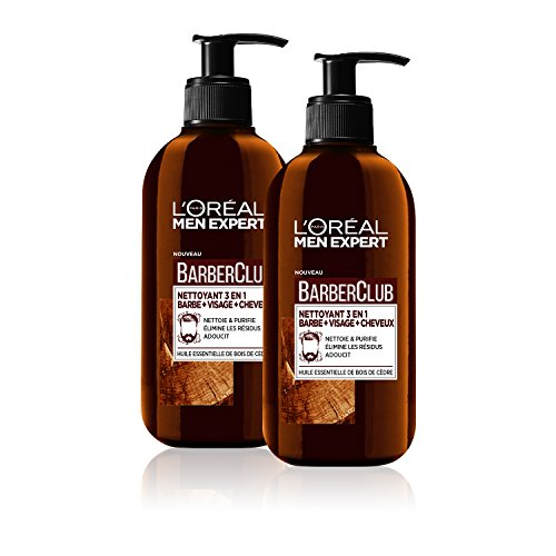Aftershave & Pre-shave Shaving & Hair Removal Supply Men Expert Barber Club Champú Barba-rostro-cabello 200 Ml Elegant Shape