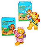 Unbekannt Schutzengel Teddybär mit Schultüte / Zuckertüte - Incl. Namen + Geschenktüte -..