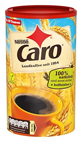 Nestlé CARO Landkaffee, lösliches Pulver aus Gerste, Gerstenmalz, Zichorie und Roggen, koffeinfrei, Menge: 1 x 200g Dose