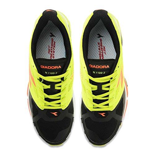 Diadora , Herren Sneaker Giallo Fluo / Nero