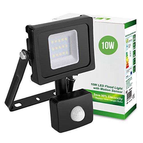 LE 50W LED Fluter mit Bewegungsmelder / 4000lm Strahler/ ersetzt 150W Hochdrucknatriumlampe/ 6500K Kaltweiß/ IP65 Wasserdicht/ sensor außenleuchten/ Flutlicht LED Scheinwerfer Außenleuchten