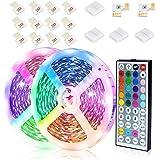 JESLED LED Strip Lights, 12M RGB LED Light Strips with 44-Key Remote Control, Color Changing Decorative LED Tape Lighting for