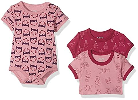 Care Baby - Mädchen Body 4133, 3er Pack, Gr. 86, Mehrfarbig (Light rose 550)