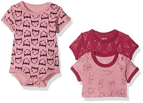 Brands 4 Kids A/S Care Baby - Mädchen Kurzarm-Body 3er und 6er Pack, Mehrfarbig (Light rose 550), Frühchen (Herstellergröße: 44 )