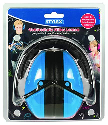 Stylex SX-4230 Gehörschutz Stilles Lernen Blau M/L = geeignet für Kinder ab 6 Jahren