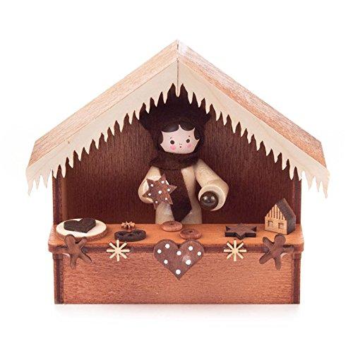 Miniatur-Weihnachtsmarktbude Lebkuchen - Dregeno Erzgebirgische Holzkunst - Artikel 065/050/3 -