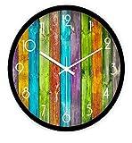 Sucastle® 12 in Metall DIY 3D Wanduhren Modern Design Acryl Wanduhren Wandtattoo Dekoration fürs Wohnzimmer Kinderzimmer Nostalgie Wanduhr ohne Tickgeräusche Wanduhr Europäische Vintage Handarbeit 3D Dekorative Zahnrad aus Holz