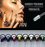 Chrom Powder Silber, Chrom Effekt Nägel, Spiegel Pulver, Pigment