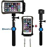 """DiCAPac action DRS-C2 Set Case Smartphone étanche (jusqu'à 5.7 """"), y compris avec le bras télescopique et télécommande. Accessoires"""