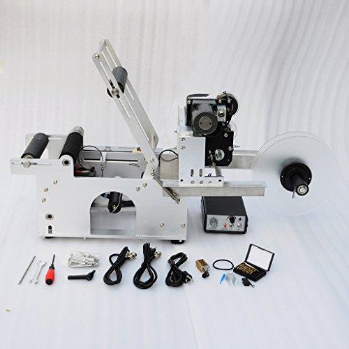 Wotefusi 220V Semi automatische runden Flasche Kennzeichnung Maschine Date Code Drucker Etikettierer, MEHRWEG