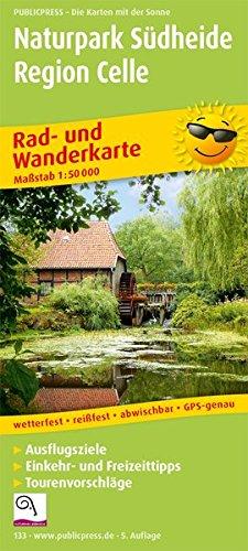 Naturpark Südheide - Region Celle: Rad- und Wanderkarte mit Ausflugszielen, Einkehr- & Freizeittipps, wetterfest, reissfest, abwischbar, GPS-genau. 1:50000 (Rad- und Wanderkarte / RuWK)