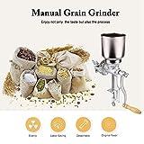 Cocoarm Trousse Manuelle de broyeur de Moulin à Grain de café avec la Fonte de Grand Entonnoir pour Le blé de maïs de Grain