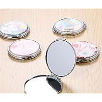 Preisvergleich für Baby-lustiges Spielzeug Adorable Doppelseitige Metall Runde Form Cartoon Design Compact Taschengröße Spiegel Gelegentliches Muster