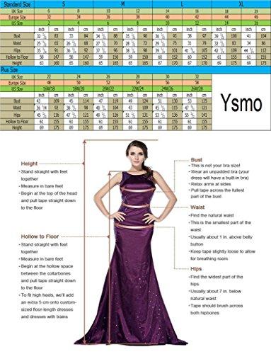 Ysmo Frauen A-Linie 2 Stück Tüll Spitze Applique Sequins Beaded Heimkehr Kleider Kurze Ballballkleid Schwarz
