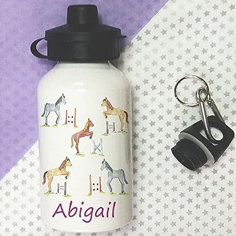 Water Bottle,Kids Drinks bottle,Personalised, Toddler Bottle, Horse Jump Bottle,School Lunch Bag